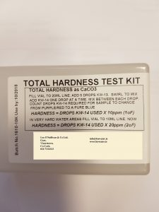 Hardness of water testing kit